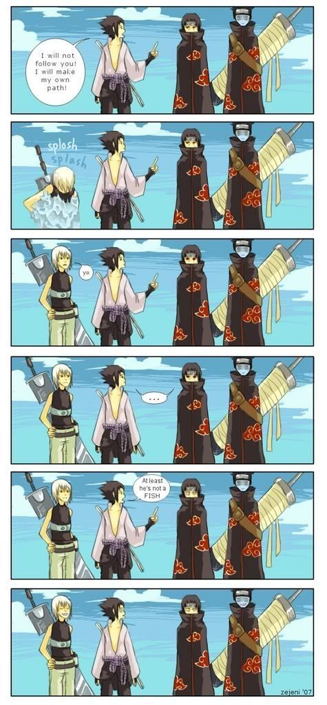 Funny+Sasuke   Akatsuki sasuke and Itachi (funny)