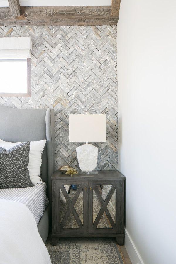 Marigold   Brooke Wagner Design LOVE this herringbone wall!