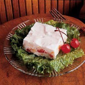Sweetheart Jello Salad  going to try frozen strawberries instead of maraschino cherries