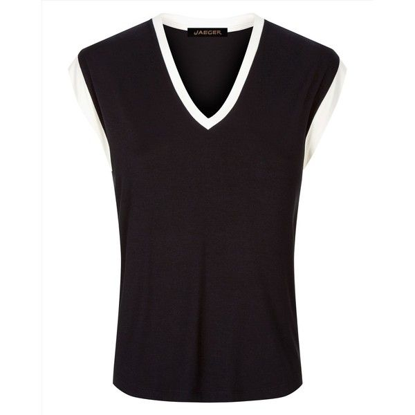 Jaeger Jaeger Jersey Vest Top ($25) ❤ liked on Polyvore featuring tops, jersey tank, purple tank top, jersey tank top, jersey top and relaxed fit tops