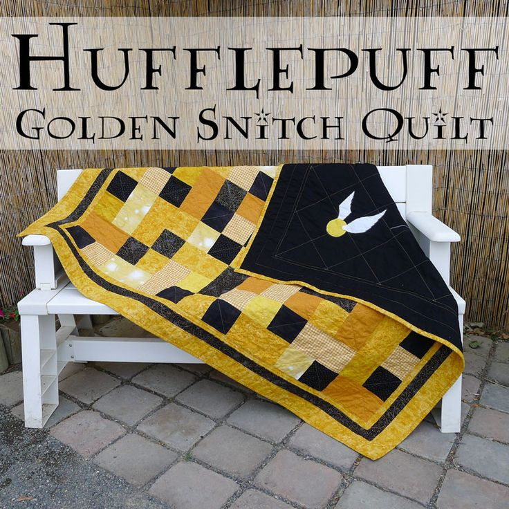 Pieces by Polly: Hufflepuff Golden Snitch Quilt - Harry Potter Inspired