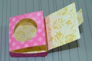 Treat Box Tutorial & Template: Peek-a-boo Box by Brenda Quintana