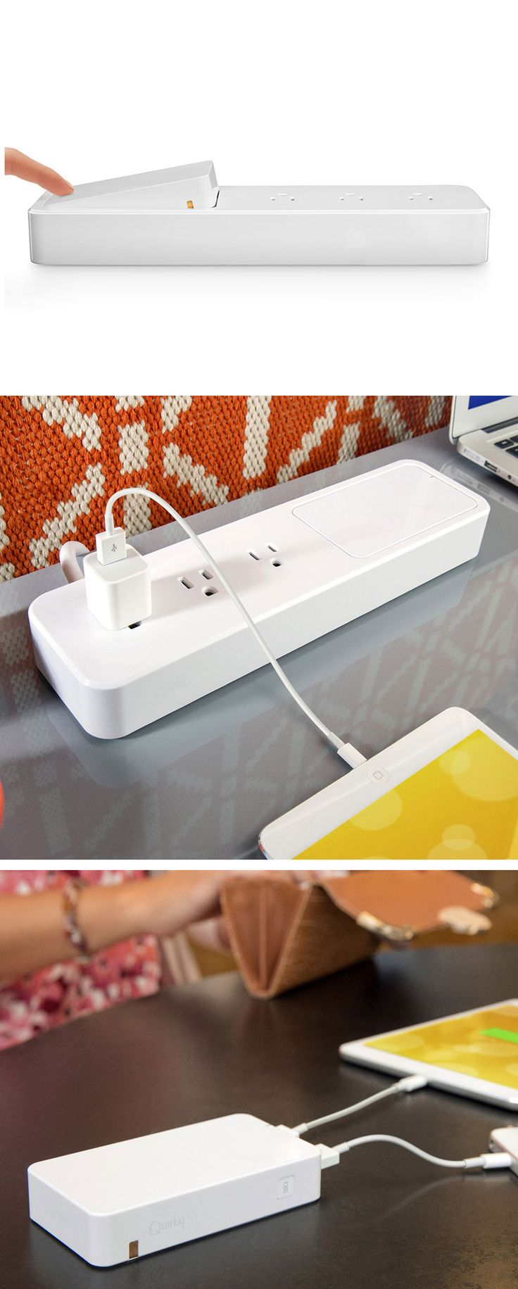 Power strip with a removable charger for your devices +