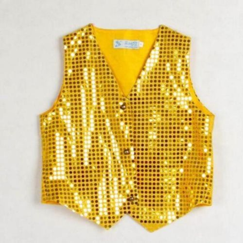 Boys-amp-Girls-Sequined-Vest-Waistcoat-Party-Dance-Show-Costumes-Modern-Dancewear
