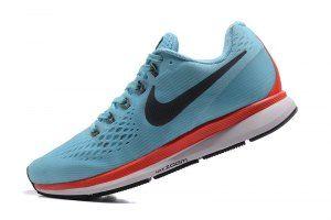 e36c72f5d83b Mens Nike Air Zoom Pegasus 34 FlyEase Blue Fox Black Bright Crimson White  880560 403 Running