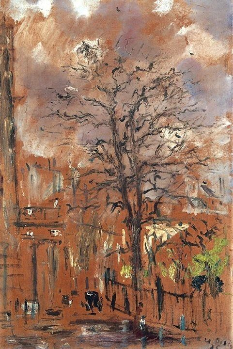 Filippo de Pisis - London a Spring Day, Portland Place, 1935