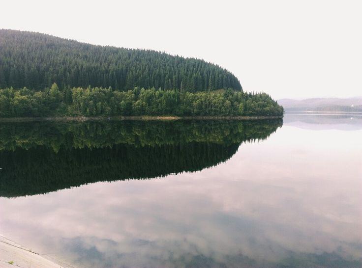 Lake Oaşa in Romania