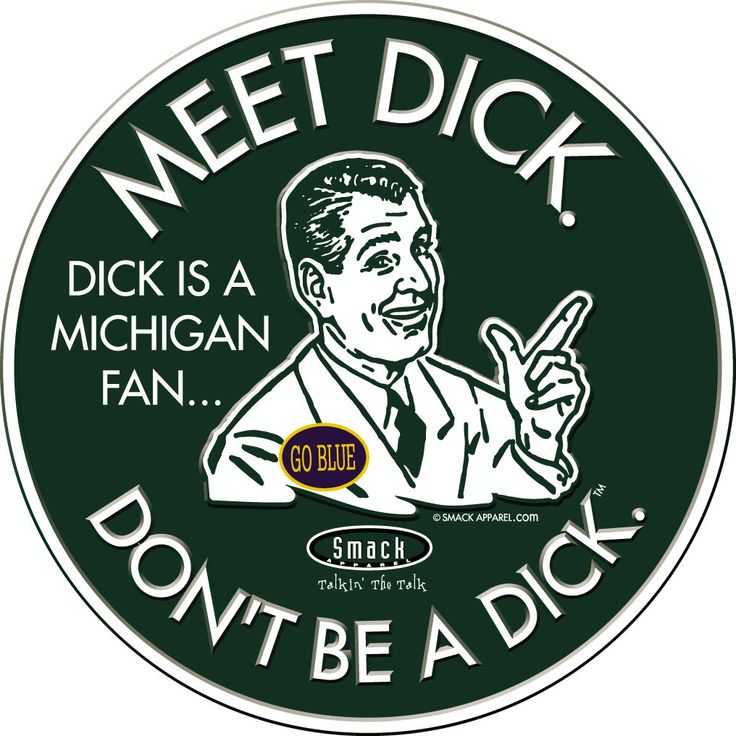 Michigan State Spartans Fans. Don't Be A Dick (Anti-Michigan). Embossed Metal Fan Cave Sign