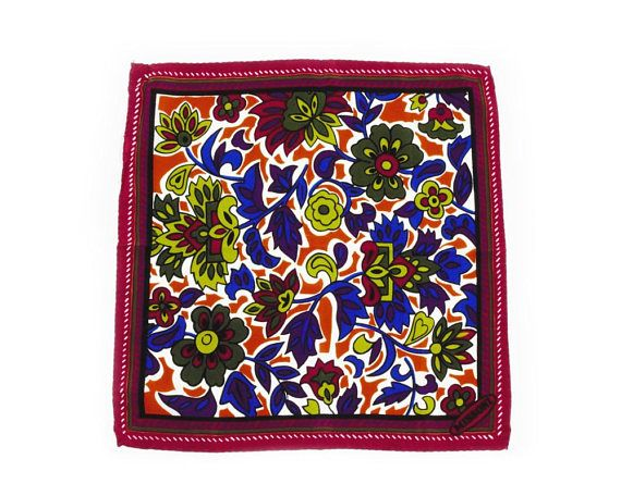 Missoni Vintage 1990s Petite Small Scarf Foulard Jewel Tones