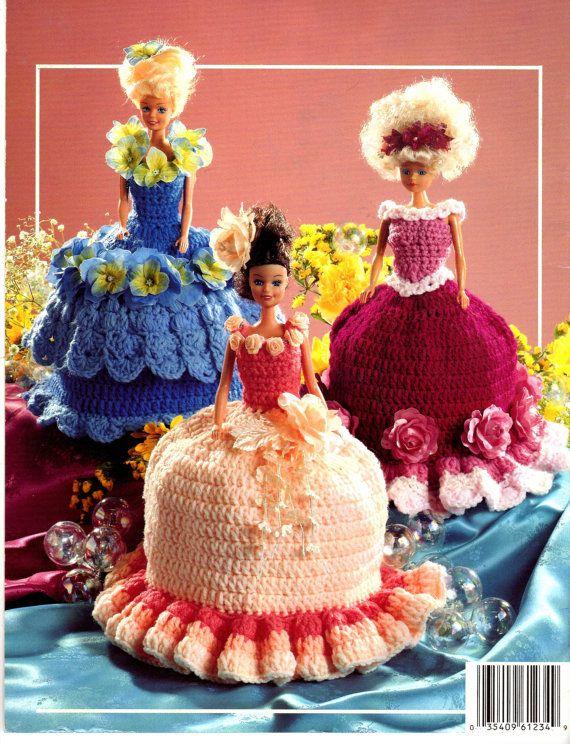 American School of Needlework Crochet Fashion Doll / Barbie Toilet Tissue Covers