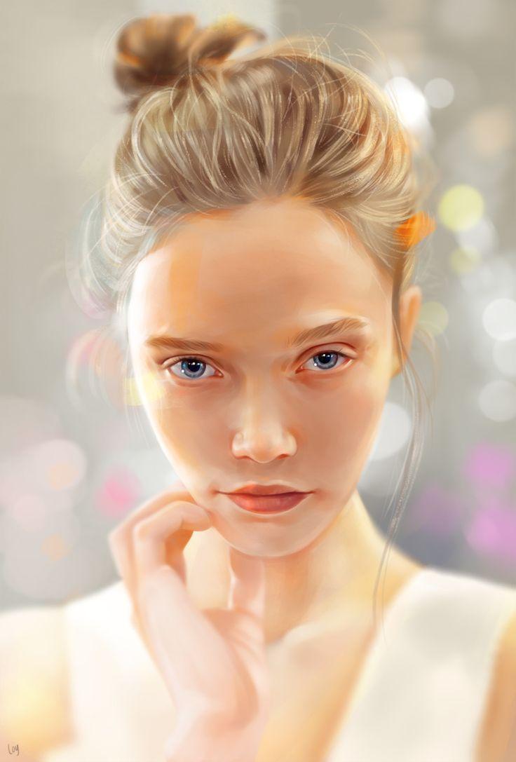 Stare , Loy Baldon on ArtStation at https://www.artstation.com/artwork/0DRkG