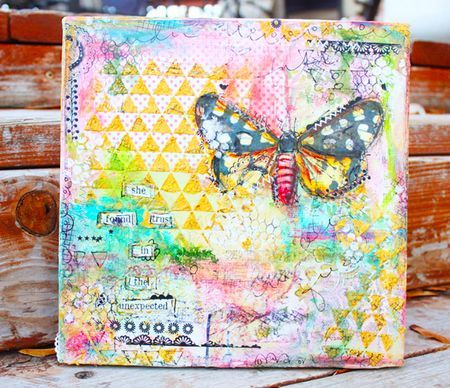 LOVE this canvas (with video tutorial!) by @Christy Tomlinson! Go and check out her blog! Awesome!!! <3