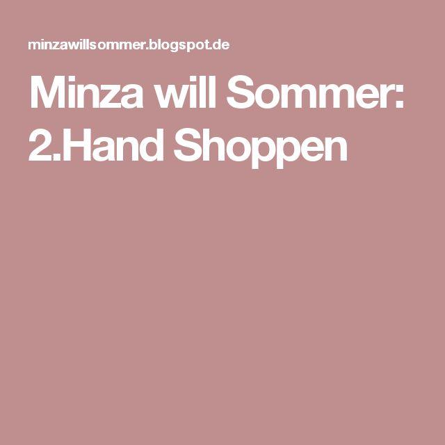Minza will Sommer: 2.Hand Shoppen