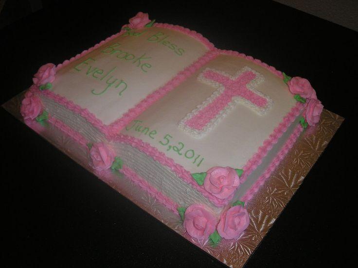 Baptism Cake Design For Baby Girl