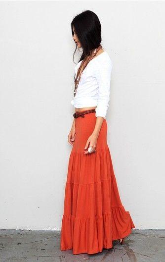 Long Tiered Skirt