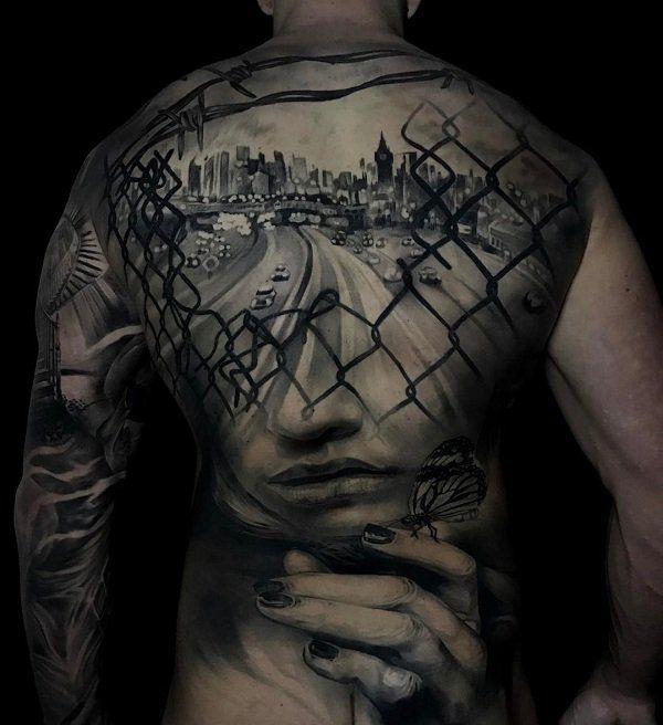 Amazing full back tattoo  - 100 Awesome Back Tattoo Ideas  <3 <3