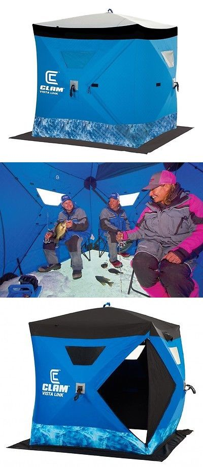 Tents and Shelters 72670: New Clam Outdoors 10133 Vista Link 2-3 Anglers Ice Fishing Shelter (6 X 6 Hub) -> BUY IT NOW ONLY: $239.99 on eBay!