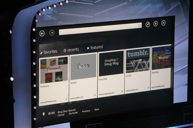 XBox 360 gets new Internet Explorer Browser - Kinect enabling a TV browser, including voice commands.