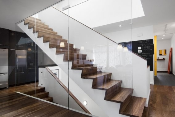 Stairs + glass
