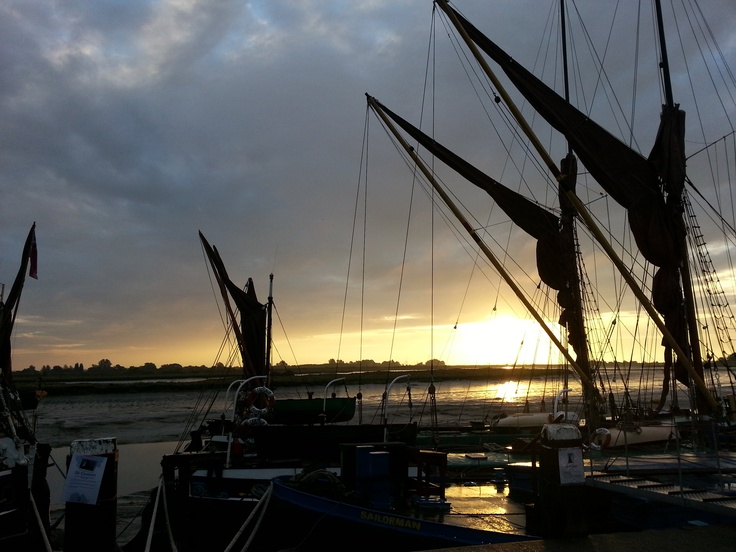 #Maldon Hythe Quay at Sunrise (posted by Maldon-town.com)