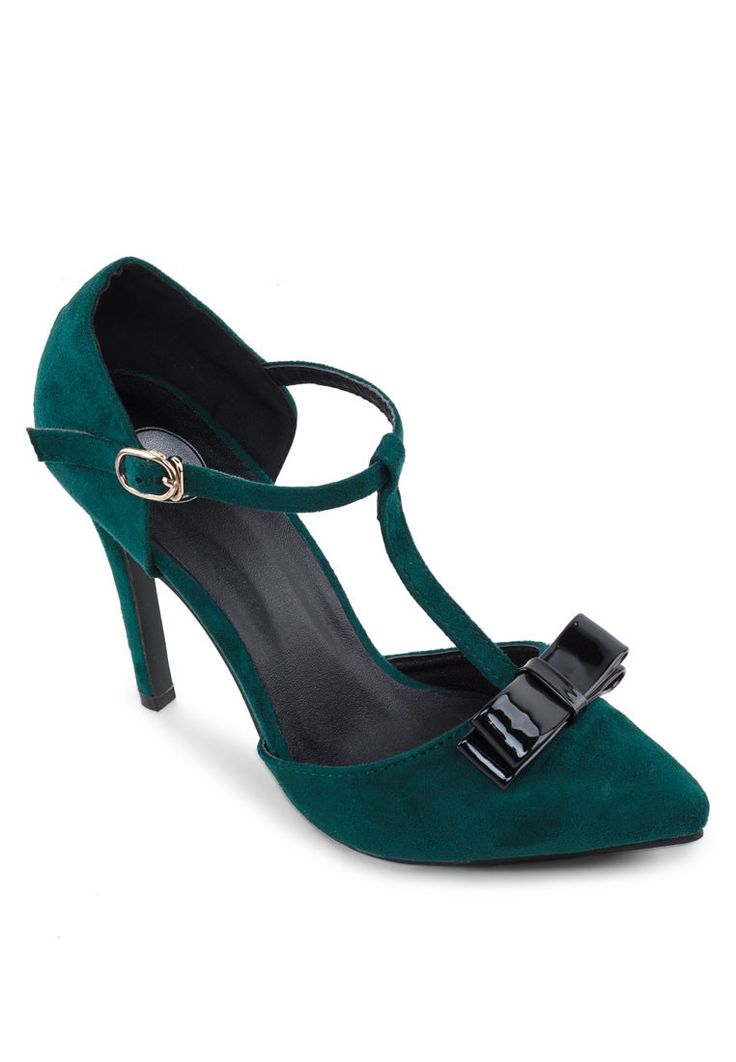 Buy Sidewalk T-Bar Heels With Bow | ZALORA Singapore