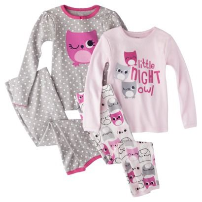 Just One You® by Carter's® Infant Toddler Girls' Princess 4-Piece Pajama Set