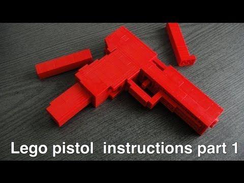 Lego pistol instructions part 1 of 2 - YouTube