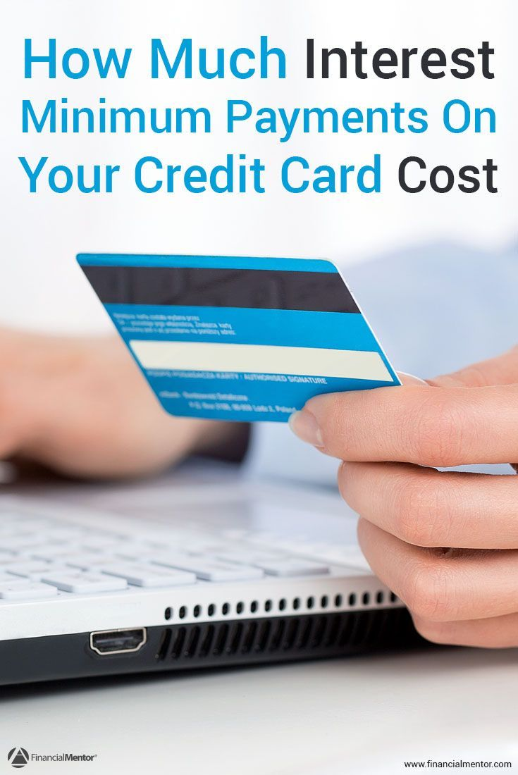 Making the minimum payments on your credit card can cost you money in the long-run. Use this calculator to see how much interest you'd pay if you just made the minimum payments, and when you'll end up paying your debt off.