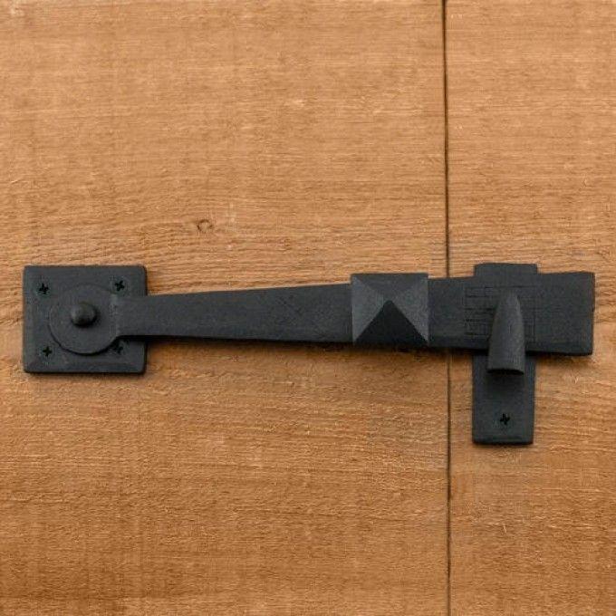 Rustic Hand-Forged Iron Gate Rim Latch