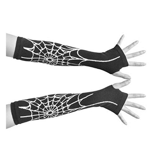 Spiderman Gloves Fingerless Halloween Party Costume Accessory @ niftywarehouse.com