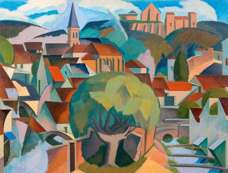 """CHEVREUSE"" by Unto Pusa (18 January 1913 - November 8, 1973), Finnish painter and professor (1969). | http://fi.wikipedia.org/wiki/Unto_Pusa | https://www.bukowskis.com/fi/auctions/F168/318-unto-pusa-chevreuse"
