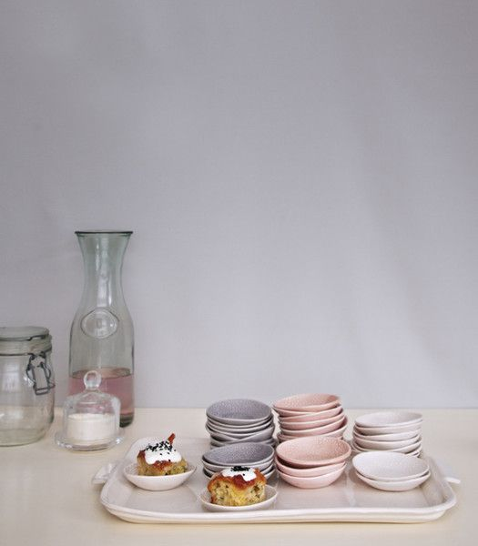 hors d'oeuvres plates / set of 6