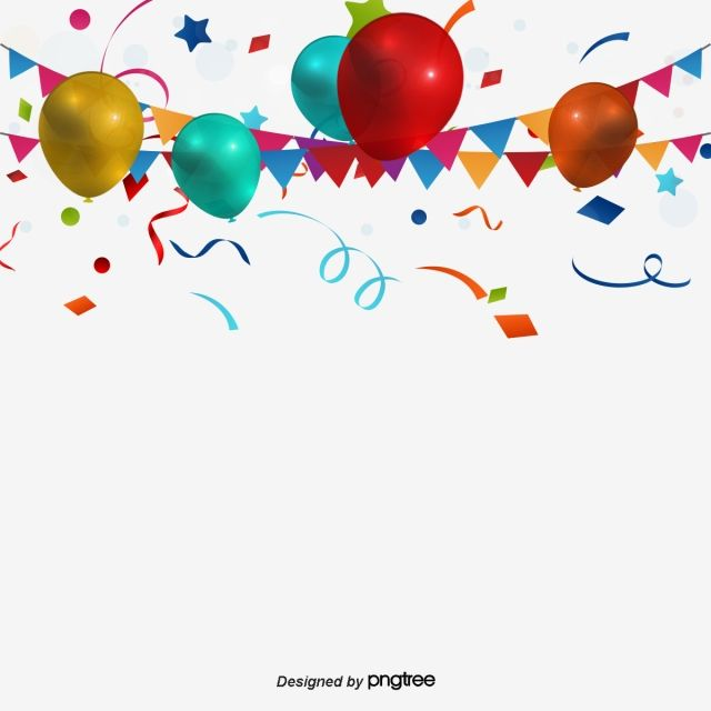 Download Blank Circular Frame Made With Birthday Party Items On