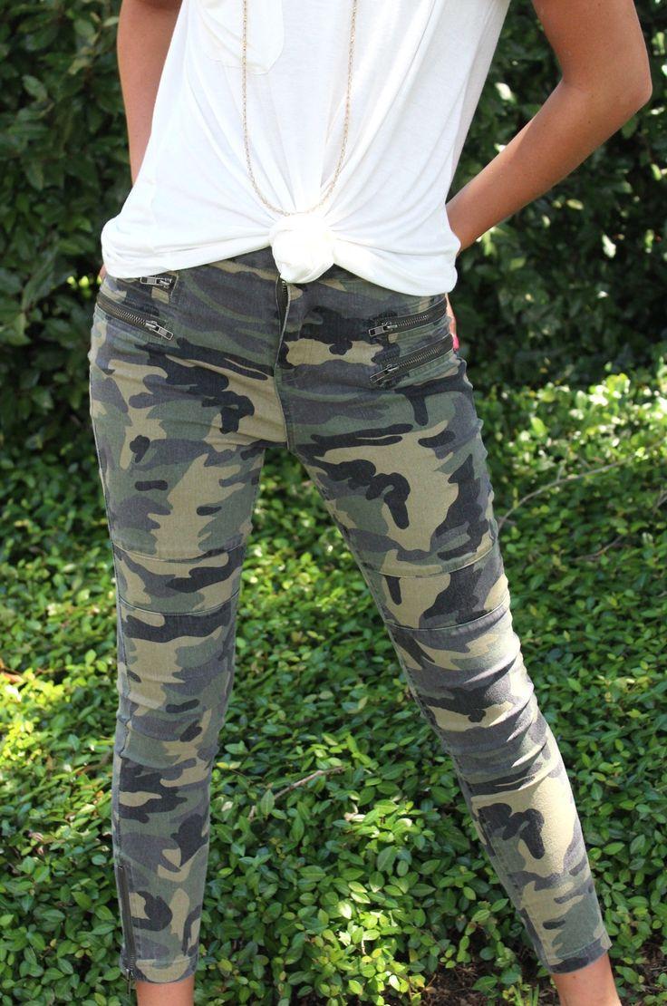 Olive Camo Skinny Jeans