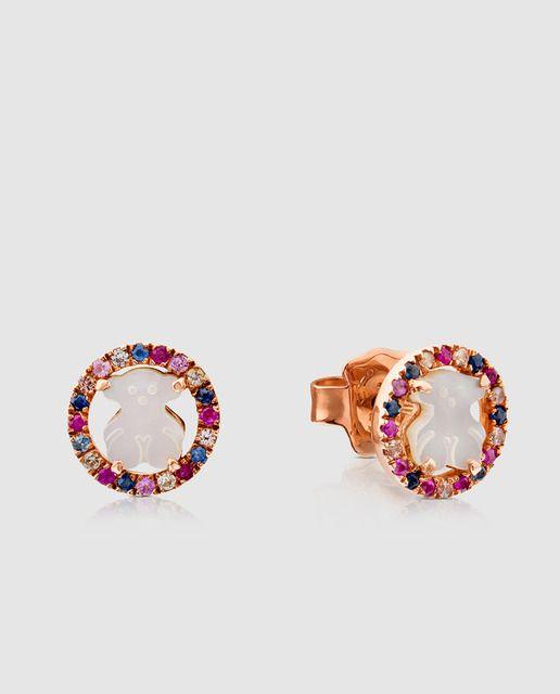 201f9eb8582d Pendientes Tous Camille de plata vermeil rosa