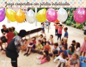 piñatas infantiles con juego cooperativo para niños