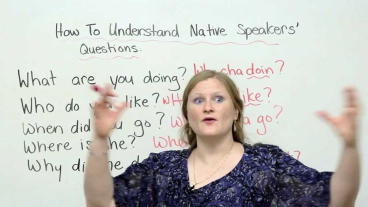 Native English speakers ask questions SO fast that you cant understand them! Watch this lesson to improve your listening comprehension in English. Youll be able to answer questions like watayadoin?!