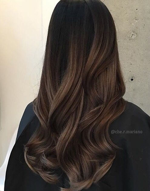 Rich hazelnut tones. Dark with lighter brown bayalage