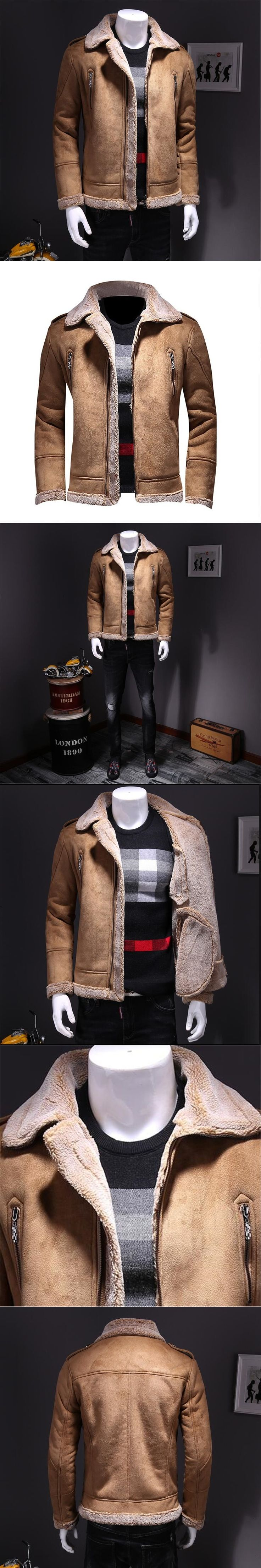 New Autumn Leather Coat Men Fashion Warm Faux Leather Coats Casual Loose Thicken Zipper Outerwear Plus Size 4XL A4103
