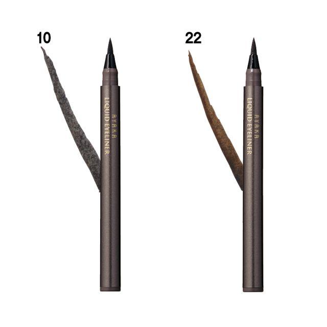 リキッド アイライナー | 美的.com 太線も細線もスムースに描けるフェルトペンタイプ。鮮明なラインが目元を際立たせつつ、ナチュラルに仕上がる。10はブラック、22はブラウン。