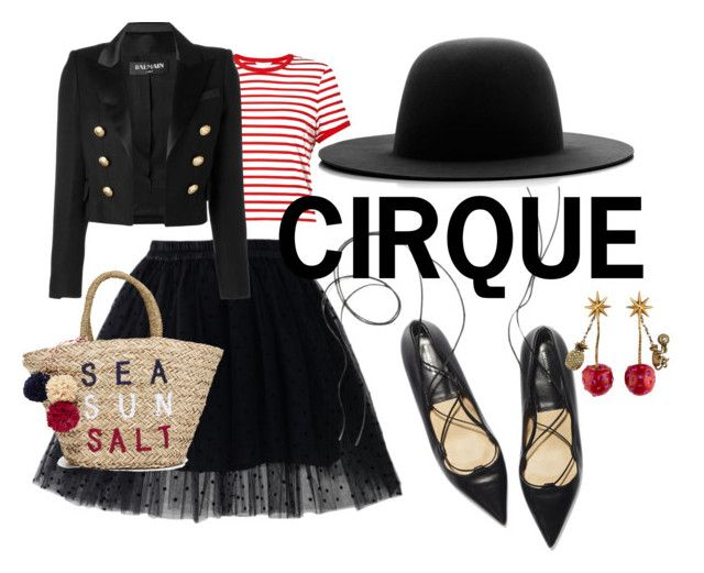 Circus by illetilmote on Polyvore featuring Miss Selfridge, Balmain, Chicwish, Sundry, Gucci and Études