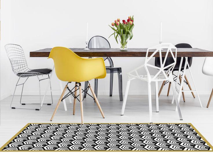 ALVÉOLES CUIVRE - tapis vinyle 65X180CM : Textiles et tapis par la-boutique-du-grand-cirque