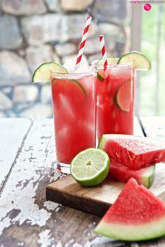 Watermelon Lime Refresher   Make this your signature summer #cocktail   MarlaMeridith.com ( @marlameridith )