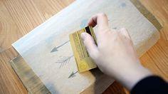 Transfert d'image sur bois avec papier sulfurisé (France)