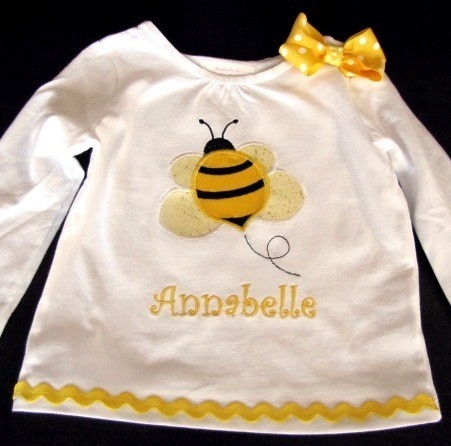 Items Similar To Girls Bumble Bee Shirt On Etsy