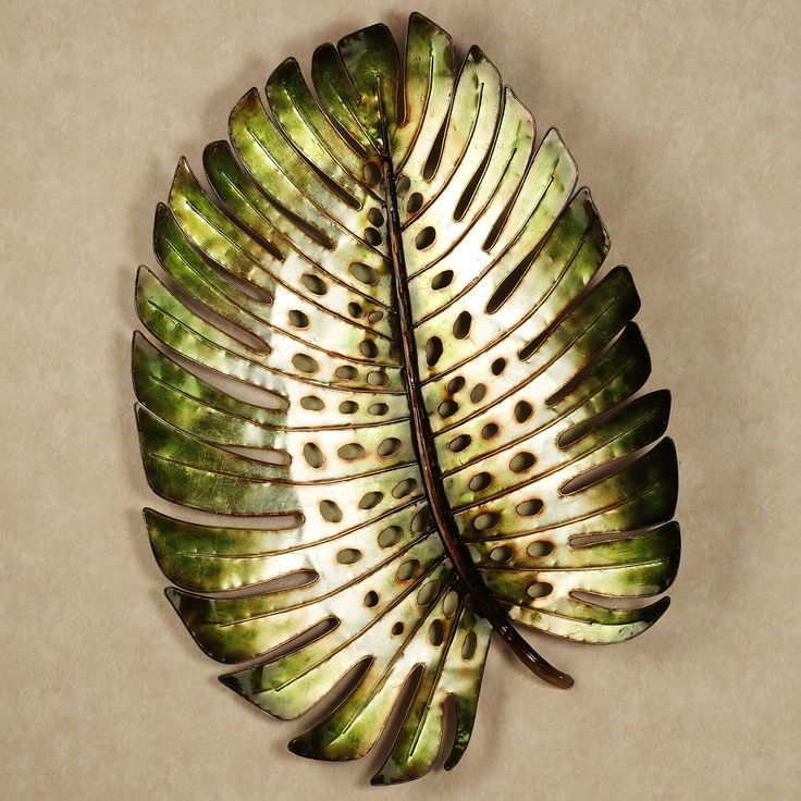 Tropical Leaf Metal Wall Sculpture ~ $149.99 at touchofclass.com
