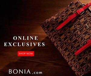 Sebagai pakar barangan kulit, BONIA menawarkan pelbagai jenis barangan kulit termasuk beg tangan kulit, kasut dan aksesori untuk wanita serta lelaki dan juga item fesyen bukan kulit yang lain seperti pakaian lelaki.