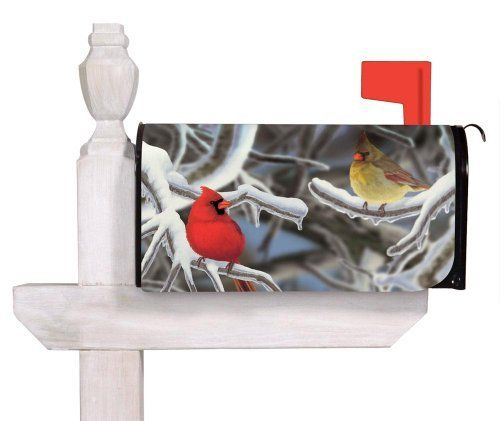 Morning Snow Mailbox Cover by Evergreen. $9.74. Clings to your mailbox in a snap and fits all standard sized mailboxes. Perforated edge for easy custom fit. All-weather and fade resistant. Magnetic. Has cut-outs for both flag and mailbox handle. A simple metal mailbox makes no statement about its owners, but adding this colorful mailbox cover introduces hospitality, style, and charming curb appeal. These magnetic mailbox covers are the new artistic rage pattern th...