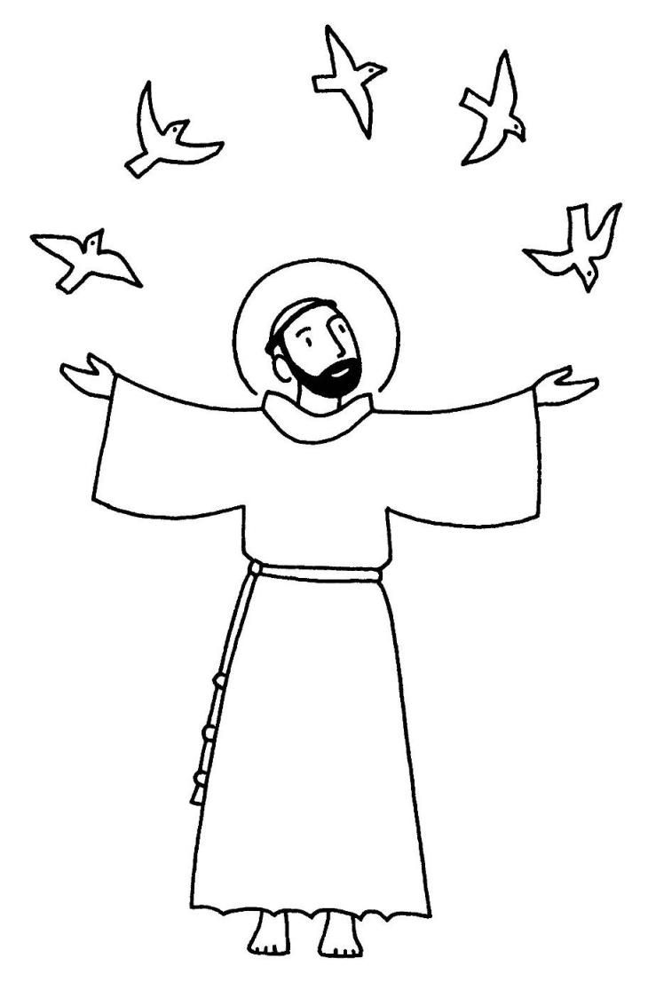 Uncategorized St Francis Coloring Page 26 best st francis of assisi images on pinterest saint five page catholic coloring book saints for the feast all saints