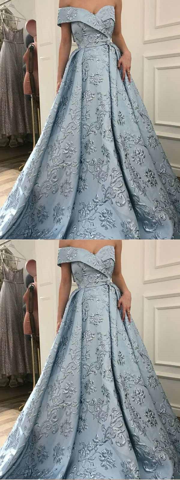 Vintage Blue Prom Dress Lace One Shoulder Prom Dress With Sleeve #VB2649